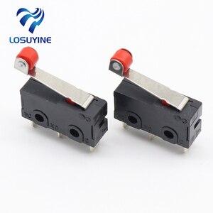 Image 1 - Mini Micro interruptor de límite, brazo de palanca de rodillo, SPDT, lote de acción a presión, 10 Uds.