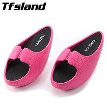 Женские массажные тапочки для фитнеса и похудения; обувь на платформе с полукруглой подошвой; женские сникерсы на низком каблуке