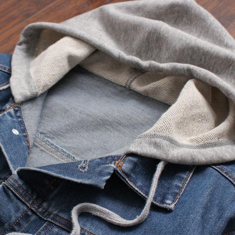 Denim Jacket άνδρες με κουκούλα αθλητικά - Ανδρικός ρουχισμός - Φωτογραφία 4