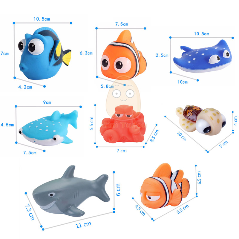 Top SaleToy Bath-Toys Float-Spray Finding Aqua Play-Animals Soft-Rubber Water-Squeeze Fish Baby