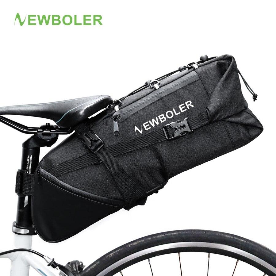 NEWBOLER 2018 Cauda Assento Da Bicicleta Saco de Bicicleta Sela Sacos De Armazenamento À Prova D' Água Ciclismo Pacote Traseiro Panniers Acessórios 10L Max