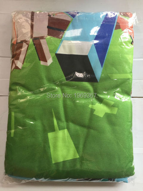 2016 In Stock ! UK/AU Size Minecraft Bedding Set Kids Bedding Set Duvet Cover Flat Sheet Pillow Case Drop Shipping