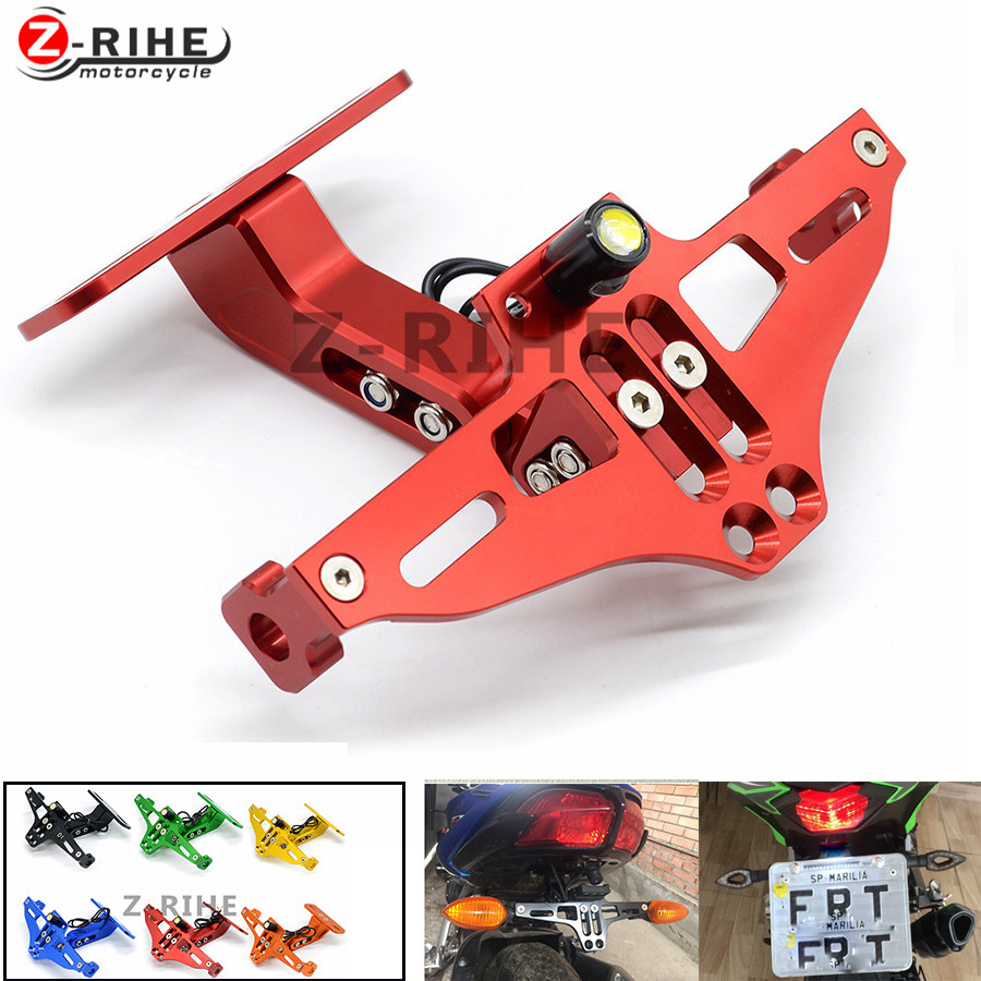 for Motorcycle License Plate Bracket Licence Plate Holder Frame Number Plate For Aprilia RSV MILLE TUONO FALCO Ducati MS4 M900 9 billet short folding brake clutch levers for aprilia dorsoduro 750 1200 fighter tuono 1000 rsv 1000 r mille sl1000 falco etv1200