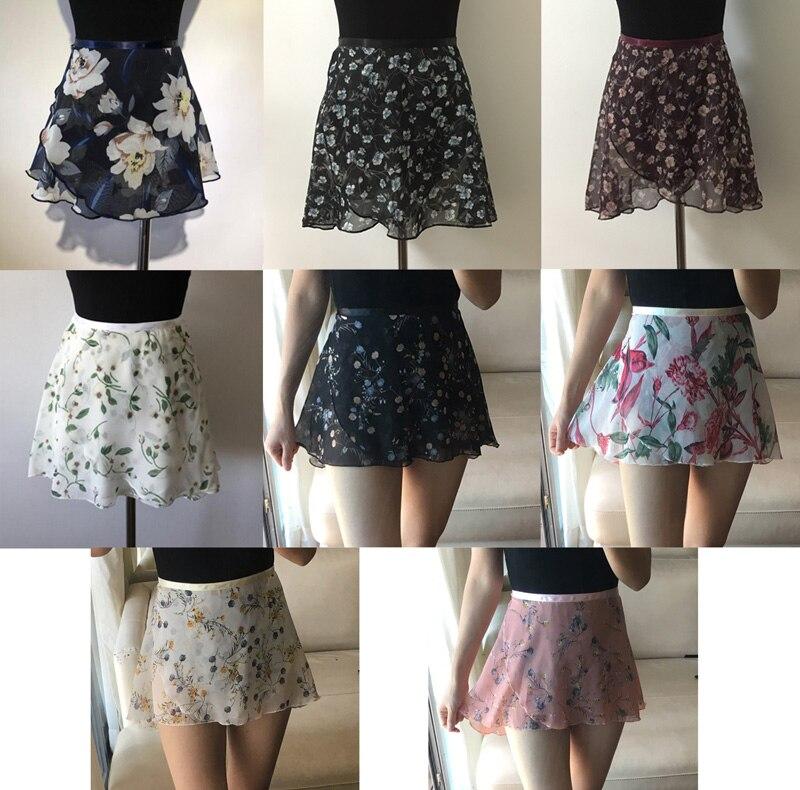 Ballet Small Apron Skirt High Quality Children Chiffon Flower Practice Leotard Skirt Girls Floral Print Ballet Dancing Dress