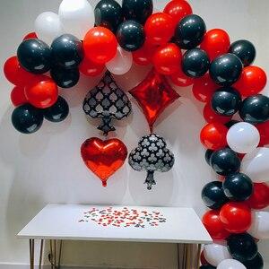 Image 2 - 87 Chiếc Vòng Bạc Cho Tiệc Tiếp Liệu Bộ Sòng Bạc Bóng Cao Su Xi Las Vegas Các Bữa Tiệc Theo Chủ Đề Trang Trí Tiệc Sinh Nhật Người Lớn