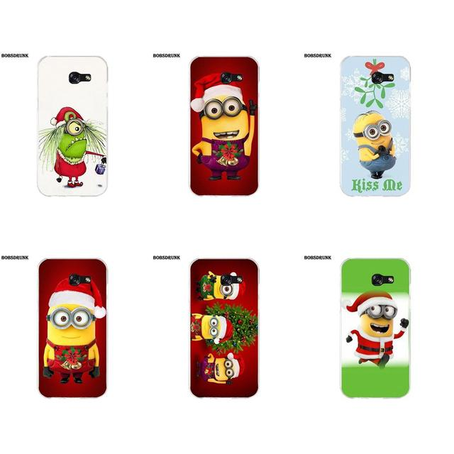 Minions Christmas.Us 1 99 Ejgroup Soft Tpu Phone Coque Minions Christmas For Samsung Galaxy A3 A5 A7 J1 J2 J3 J5 J7 2015 2016 2017 In Half Wrapped Case From
