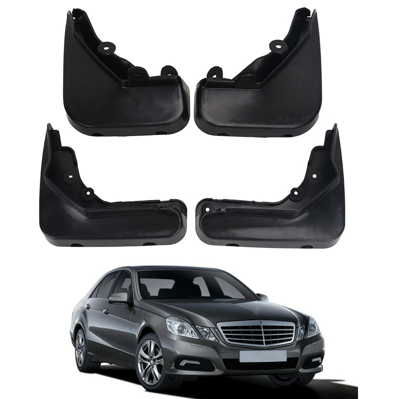 1Set Mud Flaps For Mercedes Benz E Class Sedan W212 2008-2013 Mudflaps Splash Guards Front Rear Mud Flap Mudguards //