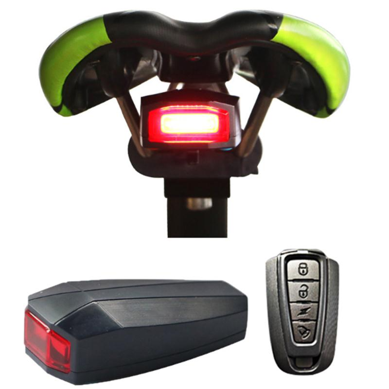 EYCI 4 In 1 Anti-theft Bike Security Alarm A6 Wireless Remote Control Alerter Taillights Lock Warner lamp Bicycle Accessories 4 in 1 bicycle bike high quality security lock wireless alarm anti theft remote control new 828 promotion
