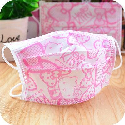 5 Pcs/lot.cute Kawaii Kitty Cat Pink Bow Non-woven Masks.Disposable Protective Dust Mask.Nail Art Supplies.14.5*9cm