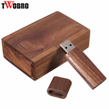 Creative Original Wooden Customized usb pen drive 4GB 8GB 16GB 32GB 64GB USB Flash Drive 2.0 Memory Stick Festival Gift with Box