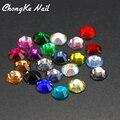 2016 Color Mezclado de Acrílico de Los Rhinestones de Moda Todo Para Piedras de Uñas Brillo 3D Metal Decoración de Uñas de Arte
