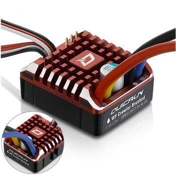 Hobbywing QuicRun 1:10 1/8 WP Crawler Brush Brushed 80A Electronic Speed Controller Waterproof ESC With Program box LED BEC XT60