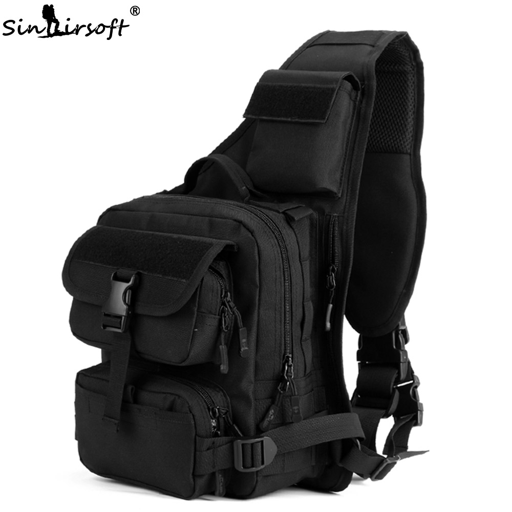 SINAIRSOFT Outdoor Sport Climbing 800D Nylon Tactical Bag Single Shoulder Sling Chest Camping Military Backpack Army