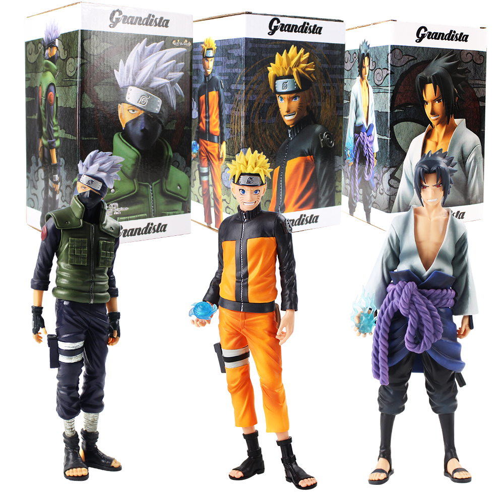 "lot of 2 Naruto Uchiha Sasuke figure 4/""-5/"" high"