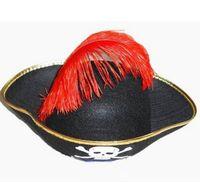 Chapéu de pirata do caribe capitão pirte chapéu cosplay hat disfarces de halloween produtos de penas chapéu de pirata