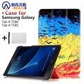 Для Samsung Galaxy Tab 10.1 T585 T580 SM-T580 T580N Tablet funda случаи Цвет Окрашенные PU Кожаный Чехол Откидная Крышка Shell + Подарки
