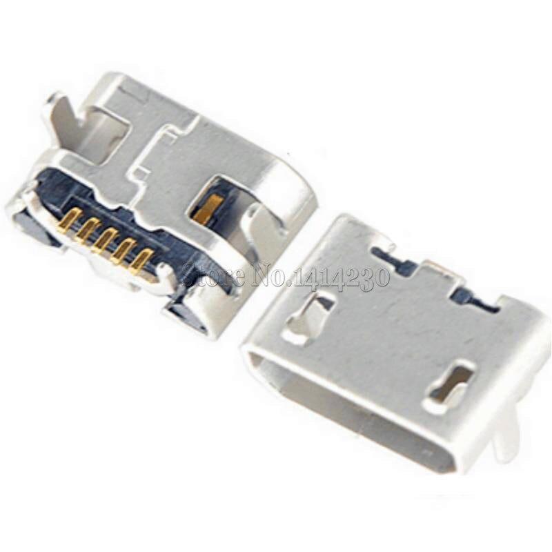 10Pcs Ox Horn Micro Usb 5pin USB Female Socket Brimless DIP For Charging