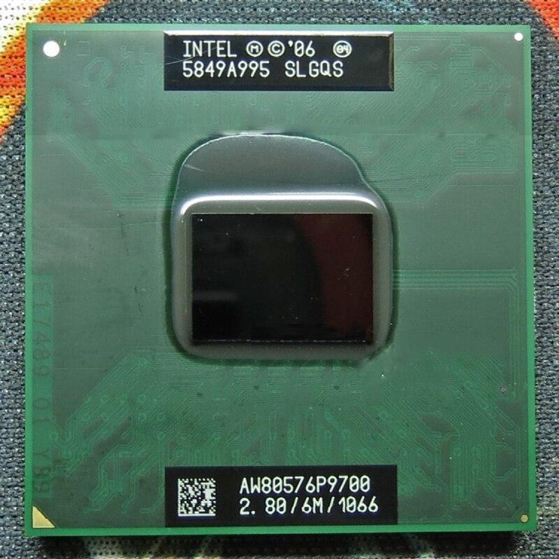 Original INTEL laptop Core 2 Duo P9700 CPU 6M Cache 2 8GHz 1066 Dual Core Laptop