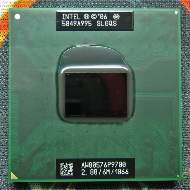 Original INTEL laptop Core 2 Duo P9700 CPU 6M Cache/2.8GHz/1066/Dual Core Laptop processor for PM45 GM45