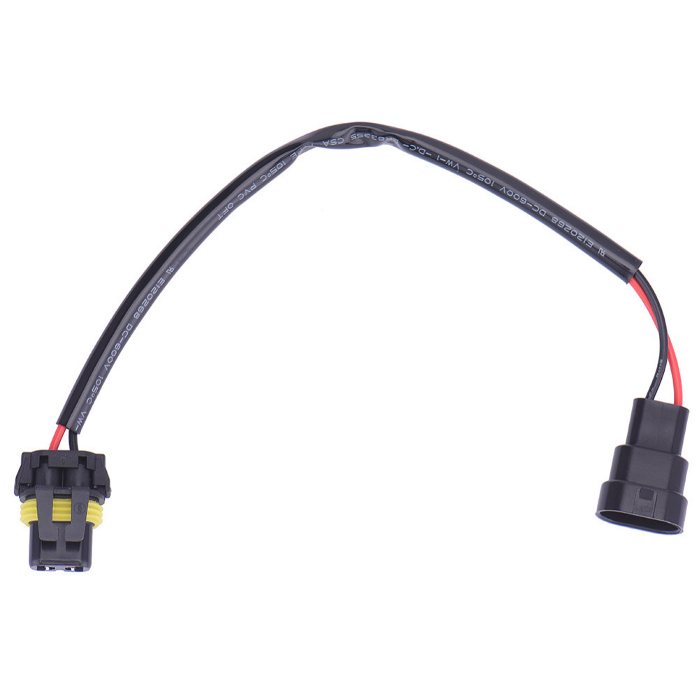 small resolution of 2pcs 9006 hb4 wire harness hid xenon power cable connector ballast socket hid wiring adapter conversion kit in car headlight bulbs led from automobiles