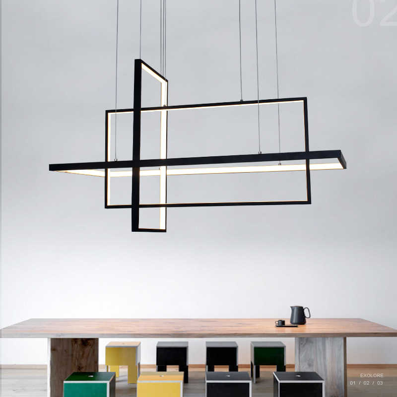 Umeiluce Modern Led Pendant Lights Creative Geometric Aluminium Hanging Lamp Smart Wi-Fi Luminaria for Bar Bedroom Dining Room