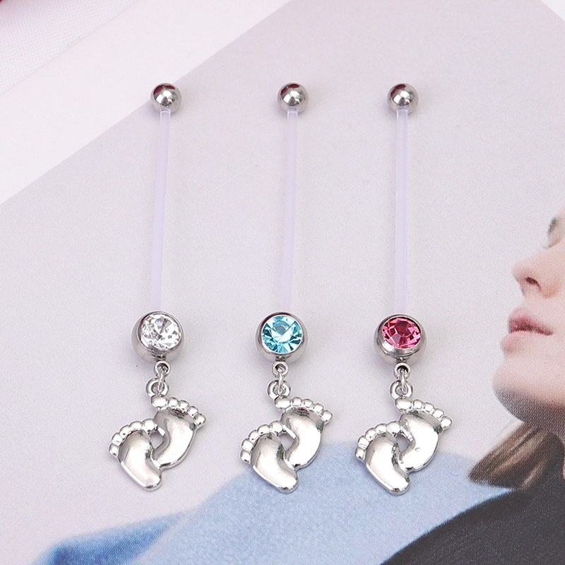 1Pcs Navel Pregnant Maternity Jewelry Baby Belly Ring Belly Button Piercing Foot Rings Piercing -8883
