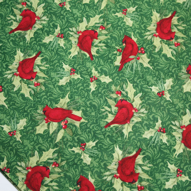1 Meter 100 Cotton Parrot Printed Christmas Tissue Designer Cloth