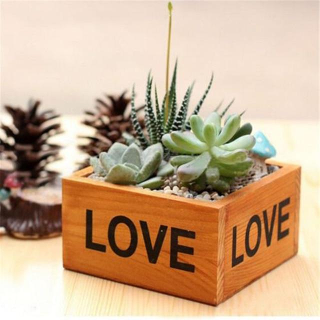 Rustic Kitchen Window Wooden Herb Box Planter Garden Kit Plant Seeds Flower Pot