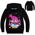 2017 Autumn Trolls Clothes For Girls T-shirt Long Sleeve T Shirt Printing Hoodies Kids Sweatshirt For Baby Clothing Bobby Tops