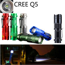 Zoomable Waterproof Light 7w Cree Q5 Led 800Lumen Mini Led Flashlight For Outdoor Sport [SK68](China)