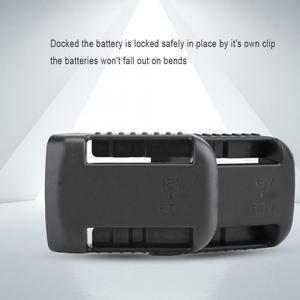 Image 2 - 5 шт. черные крепления батареи для De Walt XR 18V 60V Полка Для Хранения Подставка держатель Слоты вешалка для полок в мастерских
