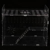 Transparent Acrylic Small Pet Pets Play Cases House for Hamster Gerbil Rat