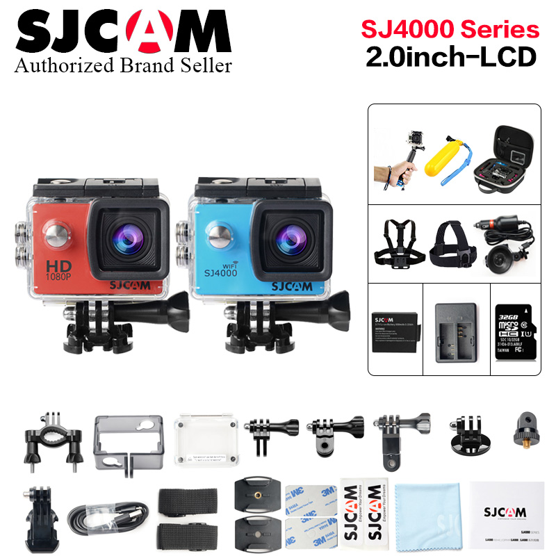 D'origine Sjcam SJ4000 Série 2.0 Écran Sj4000 SJ4000 WIFI 1080 p HD 30 m Étanche Plongée SJ 4000 wi fi action Sports Caméra