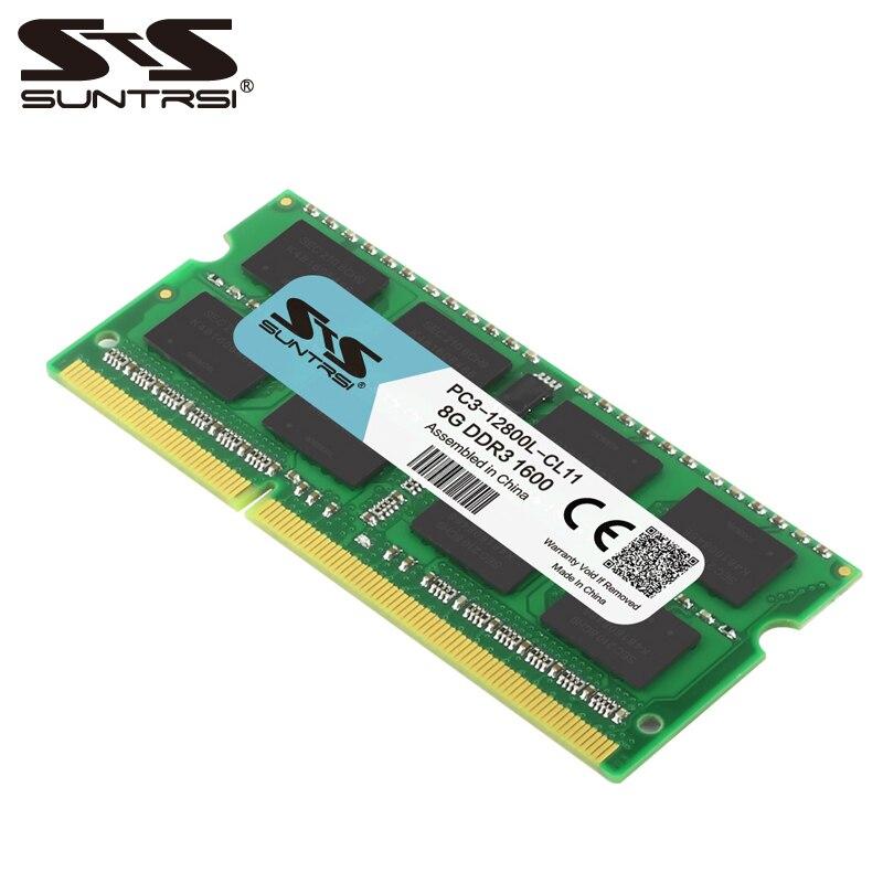 Mémoire mémoire portable Suntrsi DDR3 8 GB 204 broches 1.5 V Ram 1333 Mhz pour ordinateur portable