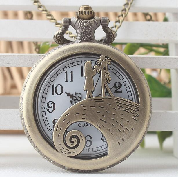Vintage Bronze Antiques Fashion Quartz Girl Hollow Out Steampunk Good Quality Woman And Men Chain Gift Pocket Watch