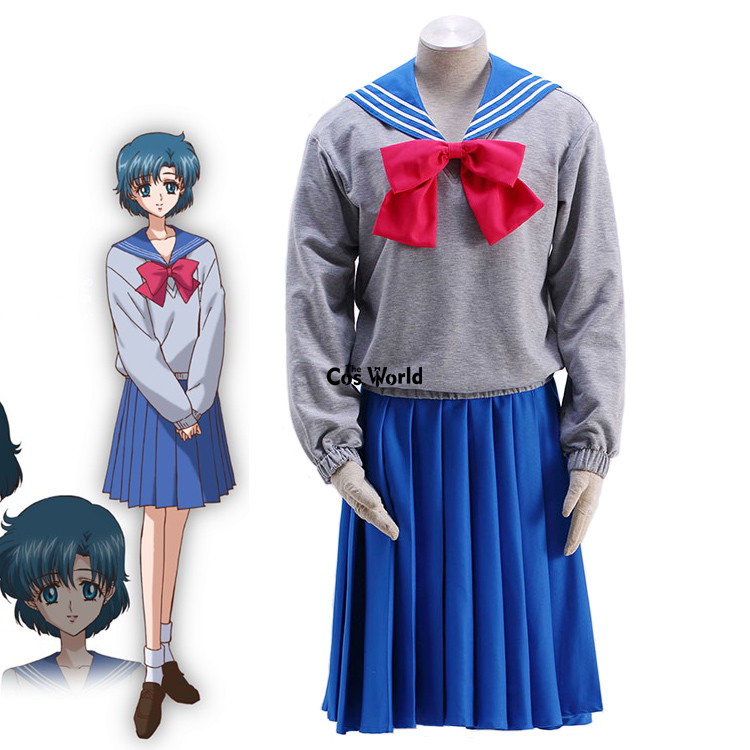Sailor Moon Christmas Sweater.Us 12 08 7 Off Sailor Moon Crystal Mizuno Ami School Uniform Sailor Suit Tops Pullover Sweater Hoodie Dress Outfit Anime Cosplay Costumes On