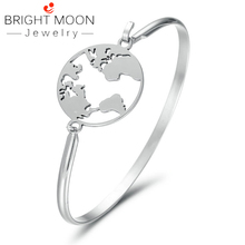 Bright Moon 2019 Simple Stainless Steel Bracelet Silver Bracelets Bangles Punk for Women Men Best Gift Indian Jewelry bright moon hot sale stainless steel women bracelets charming bangles suitable bracelets for women men jewelry gift