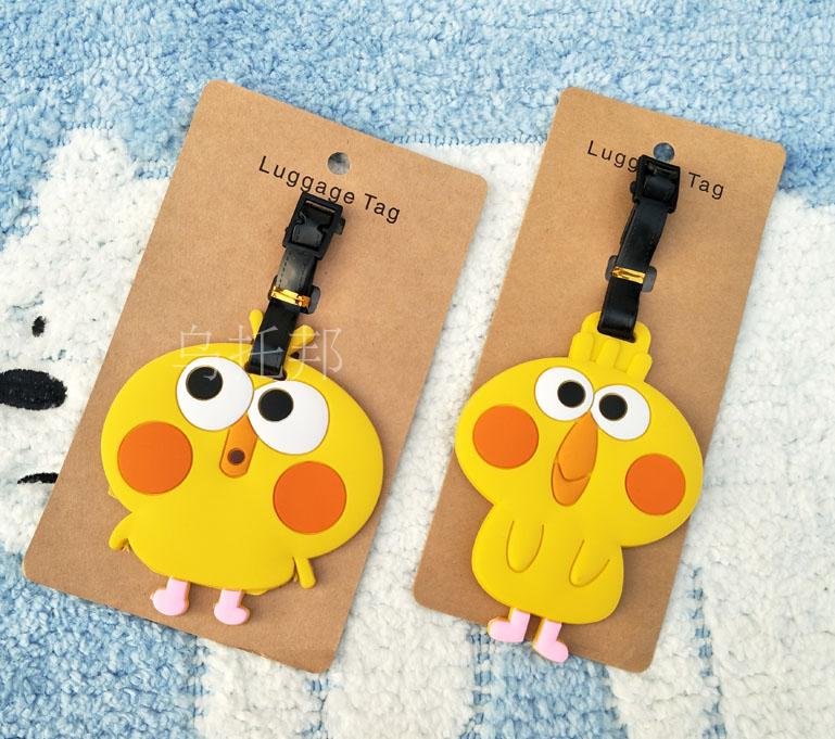 N New Trolley Koffer Travel Products Japanese Docomo Parrot For Brother Jieshi Crispy Fried Chicken Soft Rubber Luggage Tag Ne