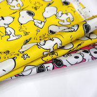 145cm 50cm PVC Nylon Kawaii Dog Waterproof Fabric Patchwork Cloth Handmade Sewing Material Home Textile Fabrics
