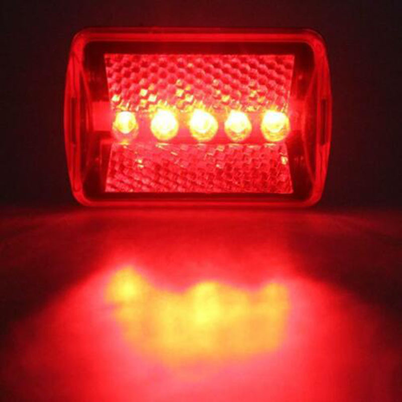 Bicycle Rear Lamp Red Bike Tail Light 5-LED Flash Warning AA Battery Powered Bicycle Cycling Accessories