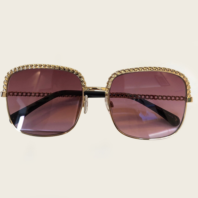 2019 NEW Square Frame Vintage Sunglasses Women Chain Sun Glasses for Men Female Shades UV400 Eyewear