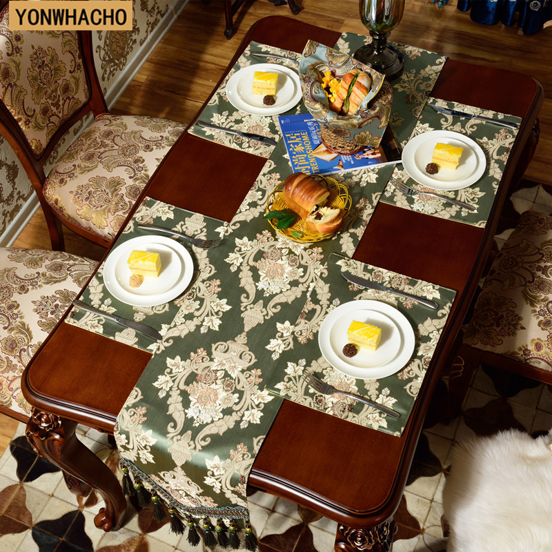 luxury embroidered classical cabinet table bed flag Placemat table runner N556