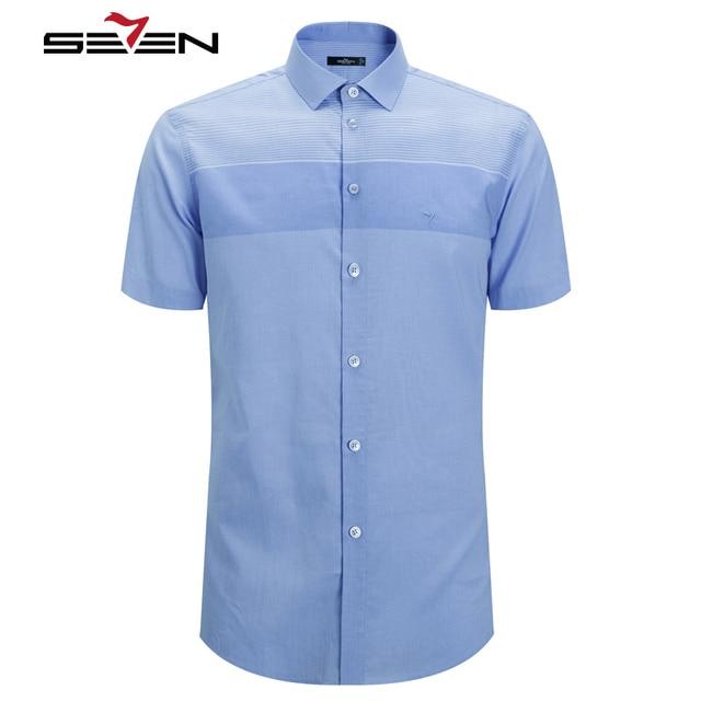 Aliexpress.com : Buy Seven7 Summer Fashion Men Button Down Shirts ...