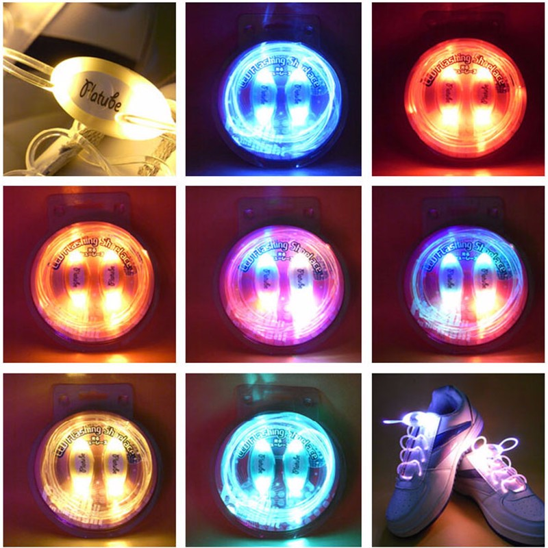 1 Pair 80cm LED Glowing Shoelaces, Flashing Shoelaces Outdoor Dance Shoestrings Party Supplies 6 Colors For Choice