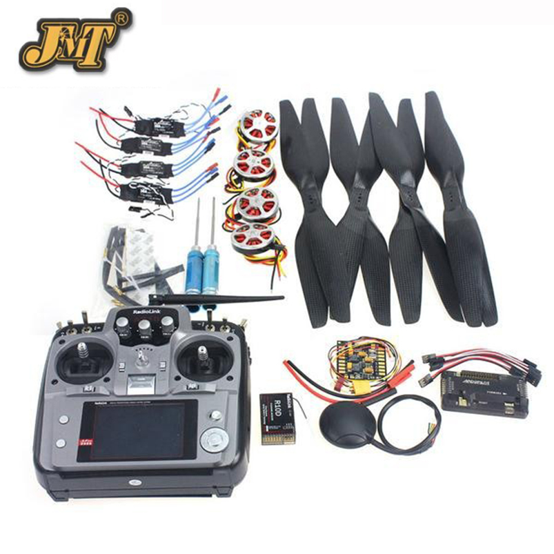JMT 4-Axis Foldable Rack RC Quadcopter Kit APM2.8 Flight Control Board+GPS+750KV Motor+15x5.5 Propeller+30A ESC+AT10 TX