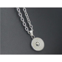 Buy interchangeable necklace pendants and get free shipping on hot selling stainless steel 18mm round snap button jewelry interchangeable pendants necklace 10pcslot aloadofball Images
