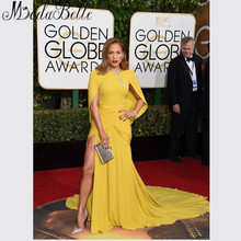Neue Ankunft 2016 73rd Golden Globe Awards vestido De Jennifer Lopez Celebrity Dress Sexy High Slit Abend Roter Teppich Kleider