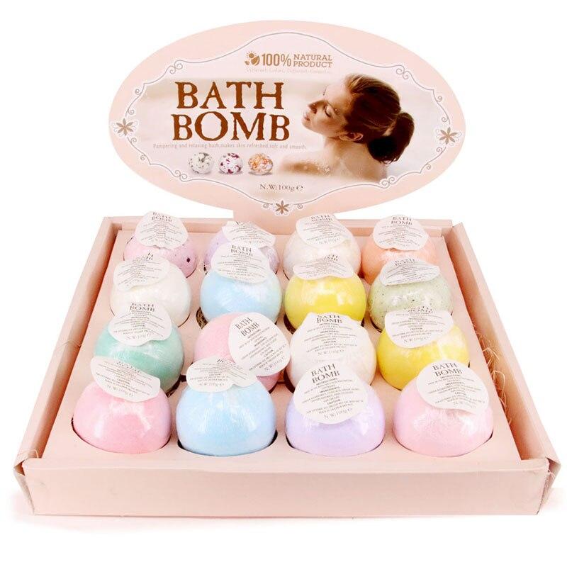 1pc Moisturizing Bath Bomb Ball Essential Oil Handmade SPA Stress Relief Exfoliating Bath Bathing Accessore