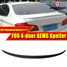 F06 Gran Coupe 6 Series Rear Boot Trunk Spoiler Lip Wing Sport Trim Lid M6 style FRP Unpainted 640i 650i wing rear spoiler 12-17