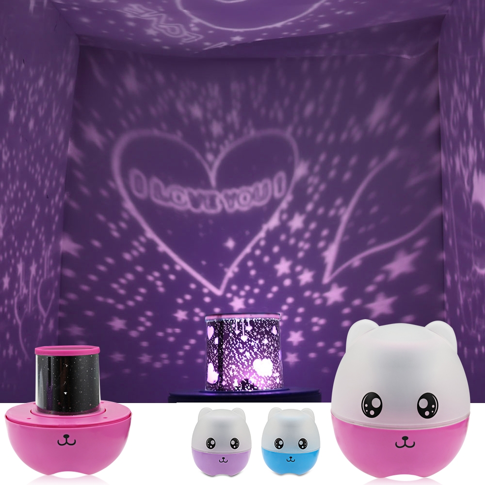 3-In-1 Cartoon Speaker Projector Lamp Changeable Light Colors 5pcs LED Beads For Home Decoration Or Christmas Gift